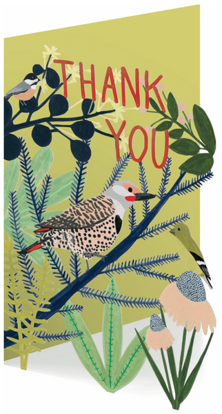 Northern Flicker Thank You Lasercut Greeting Card