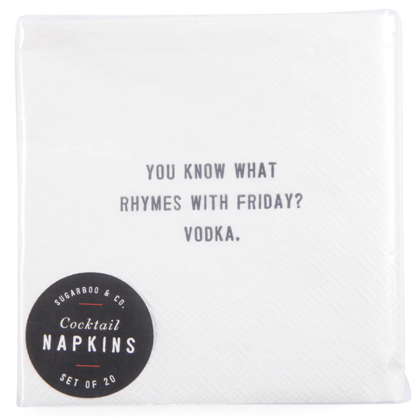 Cocktail Napkins - 12 styles available