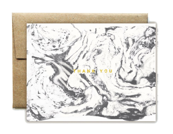 Foil Carrara White Thank You Boxed Set