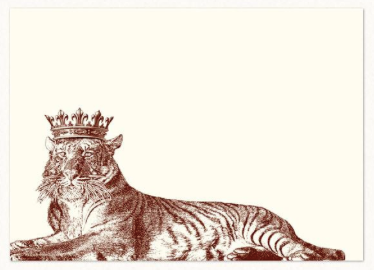 Lounging Royal Tiger Notes