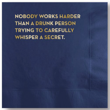 Drunk Person Napkins