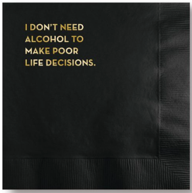 Life Decisions Napkins