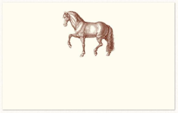 Prancing Horse Place Cards