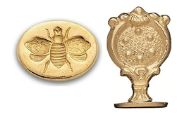 Oval Brass Wax Seal - 5 styles available