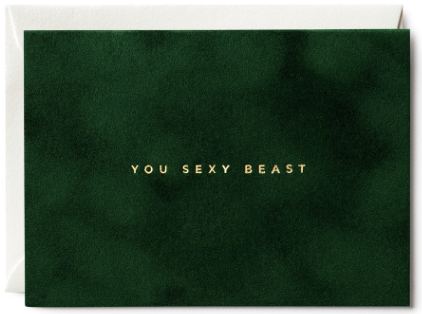 You Sexy Beast Velvet Greeting Card