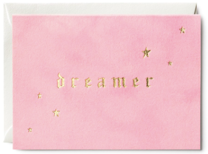 Dreamer Velvet Greeting Card