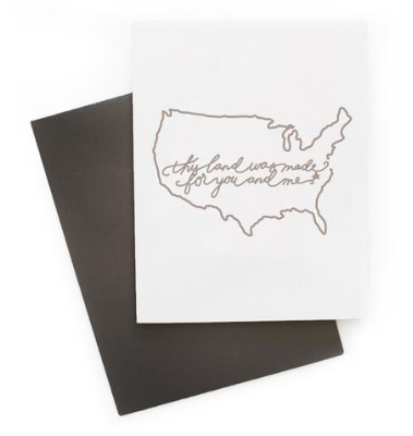 This Land Greeting Card- USA