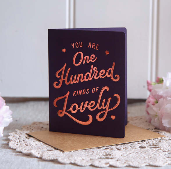 One Hundred Kinds of Lovely Greeting Card