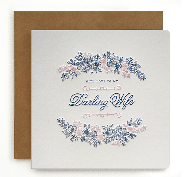 With Love To My Darling Wife Greeting Card