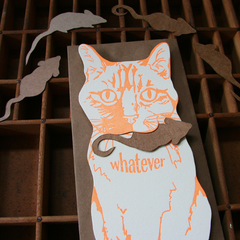 Whatever Cat Greeting Gift Card