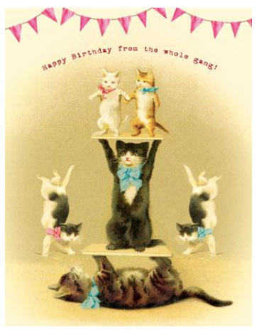 Happy Birthday From The Whole Gang Greeting Card