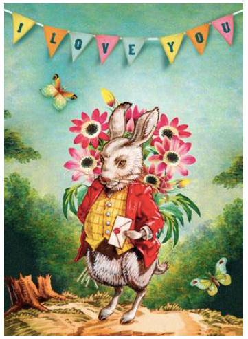 I Love You Rabbit Greeting Card