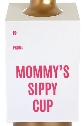 Mommy's Sippy Cup Wine & Spirit Tag