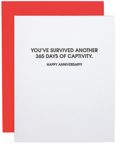 365 Days of Captivity Greeting Card