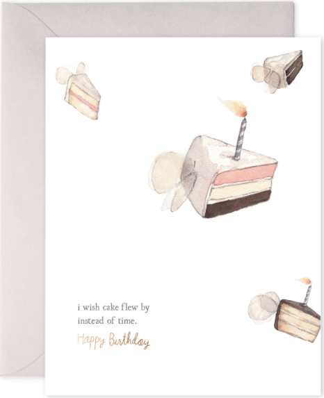 Flying Cake Greeting Card