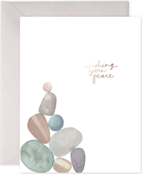 Wishing You Peace (Rocks) Greeting Card