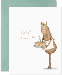 Hay Cake Greeting Card
