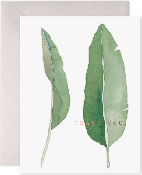 Thank You Leaves Greeting Card