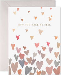 Floaty Hearts Greeting Card