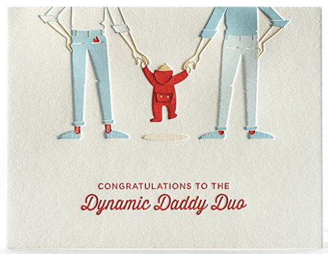 Daddy Duo New Baby Greeting Card