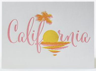 Iconic California Greeting Card
