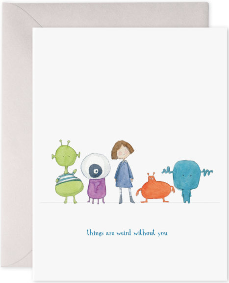 Things Are Weird Greeting Card