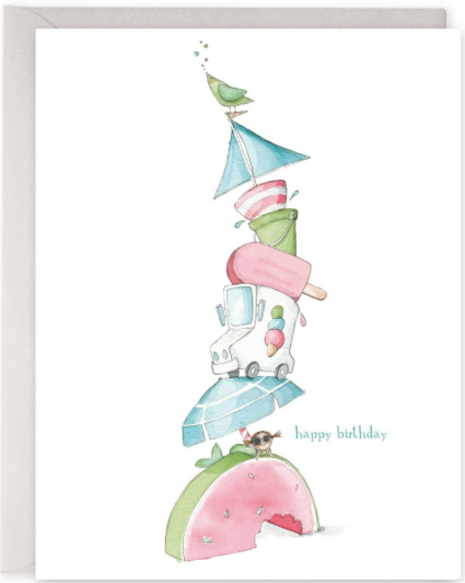 Summer Stack Birthday Greeting Card