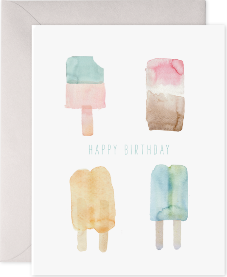 Popsicles Birthday Greeting Card