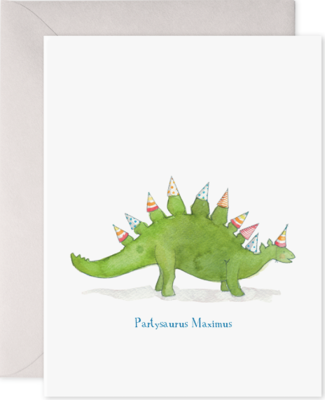 Partysaurus Birthday Greeting Card