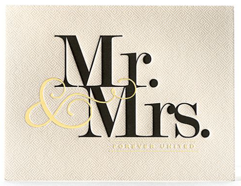 Mr. and Mrs. United Greeting Card