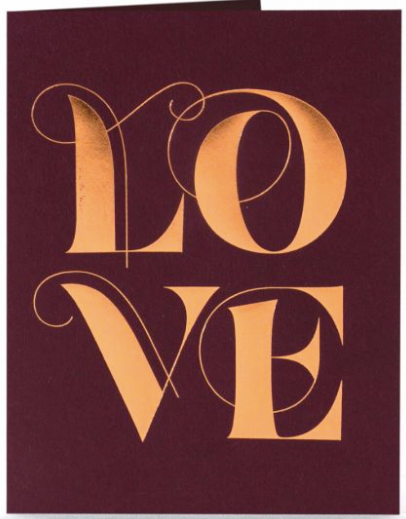 Swooshy Love Greeting Card