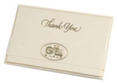Gold Bevel-Edged Thank You Set