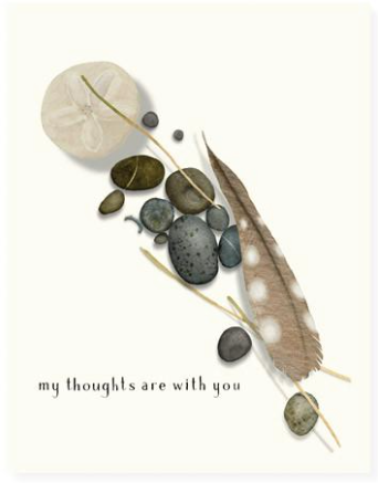 Feather and Stones Greeting Card