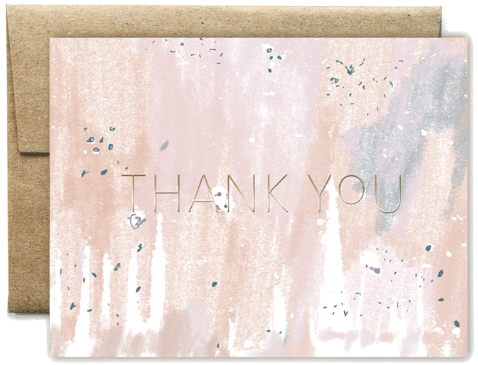 Foil Peach Concrete Thank You Boxed Set