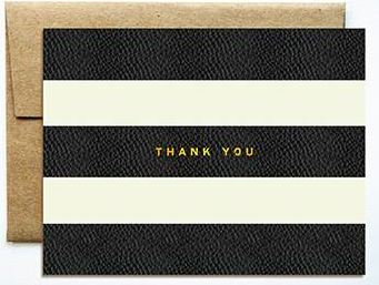 Foil Stripes Thank You Boxed Set
