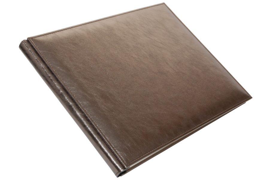 Bronze Metallic Leather Guest Book
