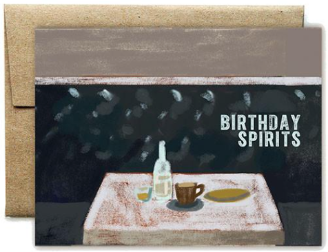 Birthday Spirits Greeting Card