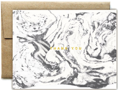 Foil Carrara Thank You Greeting Card