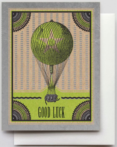 Good Luck Dirigible Greeting Card