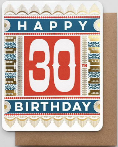 Happy 30th Greeting Card