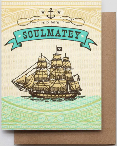 To My Soulmatey Greeting Card