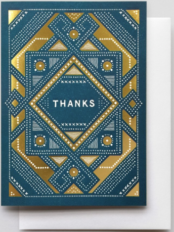 Sashiko Thank You Greeting Card
