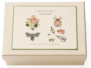 Garden Party Note Card Box