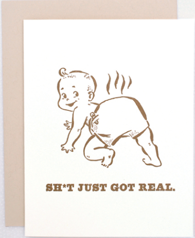 Real Sh*t Greeting Card