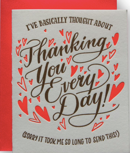 Thanking You Greeting Card