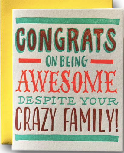 Congrats on Being Awesome Greeting Card