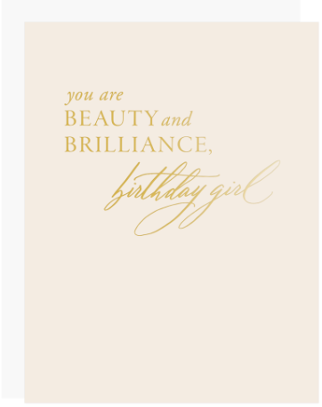 Beauty Brilliance Birthday Greeting Card