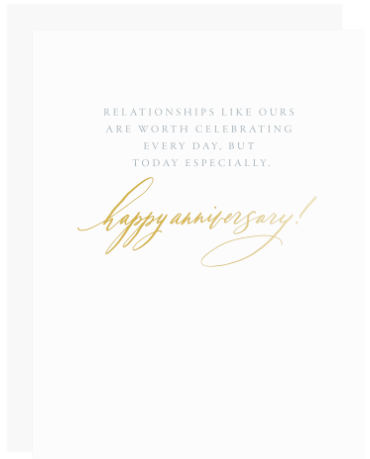Celebrate Every Day Anniversary Greeting Card