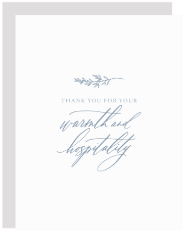 Warmth and Hospitality Greeting Card