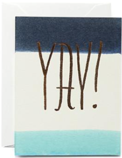 Indigo Yay Greeting Card